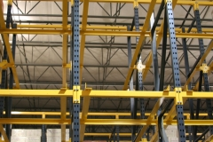 Drive-In Rack System with Structural Rails