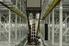 ASRS System Aisle with Crane