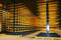 Cantilever Rack with End of Aisle Guard