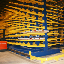 Cantilever Rack Aisle Guides Pipe Storage