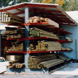 Lumber Storage Cantilever Roof