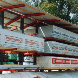 Covered Cantilever Rack Roof for Lumber
