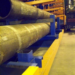 Large Pipe Storage Cantilever Guide Rail