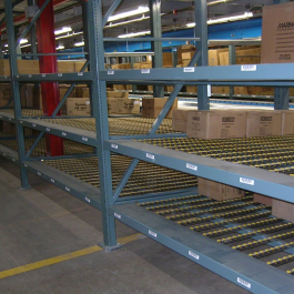 Carton Flow Rack Impact Deck