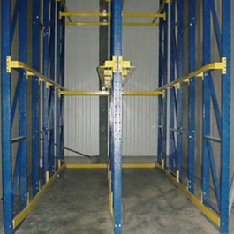 6 Pallet Deep Drive-In Rack with Rails