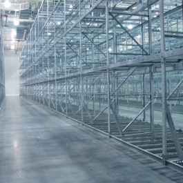 Galvanized Pallet Flow Rack For Freezer Storage Application