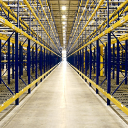 Pallet Flow Rack Center Aisle