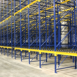 Pallet Flow Rack Down Aisle with Structural