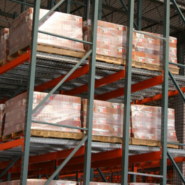 Pallet Flow Rack Loaded