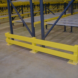 End of Aisle Guard Option With Double Rail
