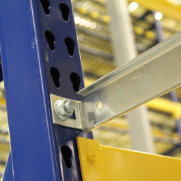 Row Spacer Back To Back Connection for Pallet Rack