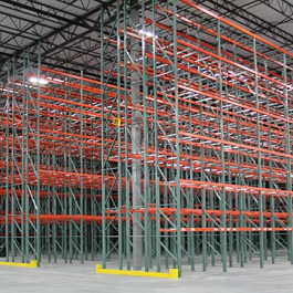 Pallet Rack With End Guard