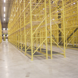 Pallet Rack Installation Safety Yellow