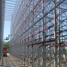 Pallet Rack Supported Building Installation