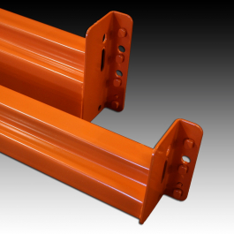 Studs and Rear View of UNARCO Pallet Rack Beam Lock