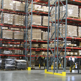 Pallet Rack Staggered Aisles For Forklift Access