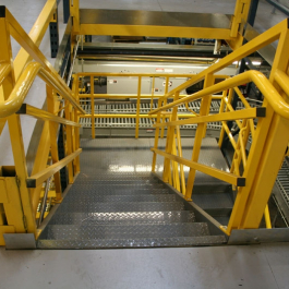 Stairs For Pick Module with Hand Rails