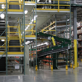 Integrated System with Conveyor & Pallet Rack