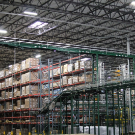 Pallet Rack Conveyor  Integration in Distribution Warehouse