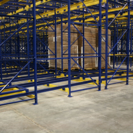 Push Back Rack Gravity Flow 6 Deep Pallet Storage