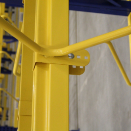 M-Dividers Beam Connection To Pallet Rack