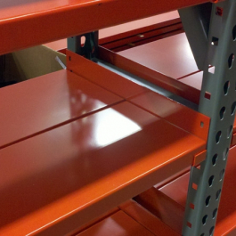 Metal Shelving with L-Rail Side Supports