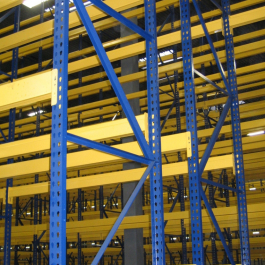 Structural Uprights with Roll-Formed Beams – Hybrid Rack