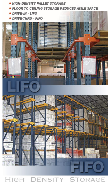 Drive-In Rack is a LIFO System and Drive-Thru Rack is a FIFO System