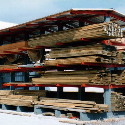 Cantilever Covered Lumber Storage