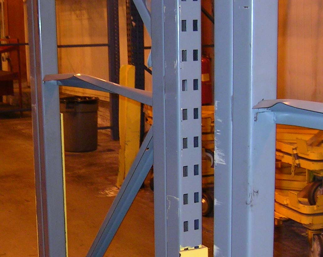 Damaged Pallet Rack Upright Bracing Should be Repaired or Replaced