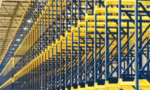 Drive-In Rack Rails in Safety Yellow