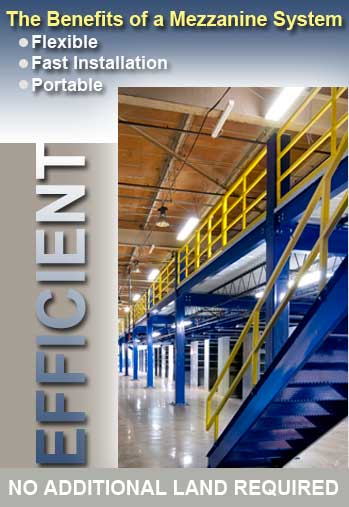 Steel Mezzanines are engineered for your warehouse.