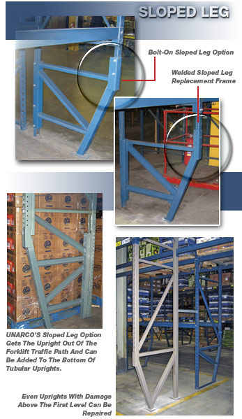 Sloped Leg Pallet Rack Repair