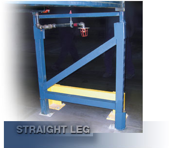 Straight-leg option with T-Bolt Punching for bottom level.   beam placement  Standard manufactured pallet rack components from UNARCO can be engineered to maintain or increase capacities of existing rack.