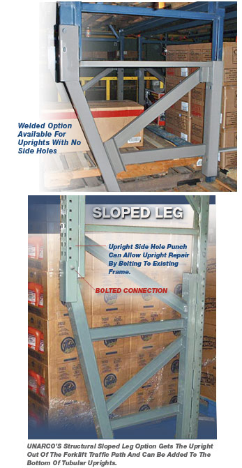 Bolted options are the safest and easiest choice but some installations require a welded pallet rack repair kit.