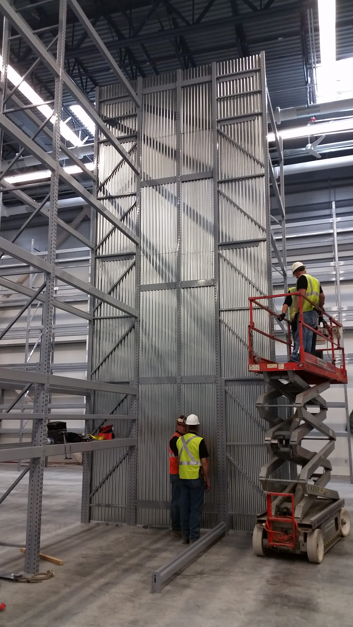 Metal fire baffle - fire protection installation