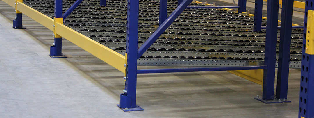Column Protectors Added At Installation Protect Pallet Rack
