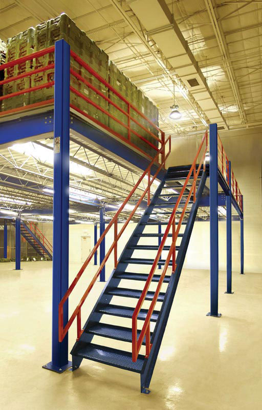 Wonderful Steel Mezzanine With Lighting Below For Warehouse Storage ...