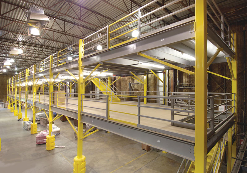 Steel Mezzanines And Work Platforms For Warehouse Storage