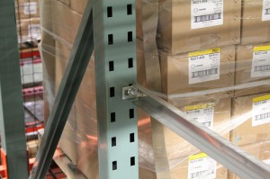 T-Bolt Pallet Rack Installation of Row Spacer Tie