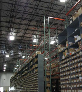 Bin Shelving with Pallet Rack