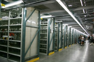 Pick Module Bin Shelving With Pallet Racking