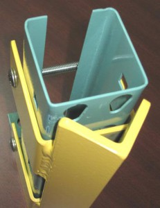 Bolt-on Structural Angle Column Protector for Pallet Rack