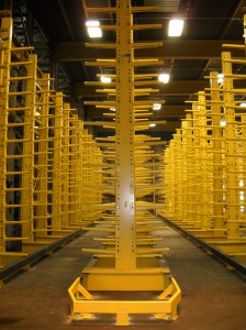 Cantilever Rack Aisle for Pipe Storage