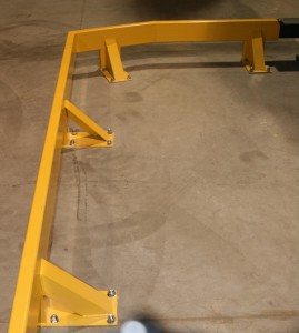 Cantilever Rack Floor Mount Guide Rail