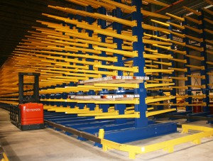Cantilever Rack Aisle Guides For Pipe Storage
