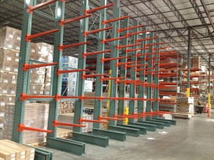 Single Sided Cantilever Rack Installation
