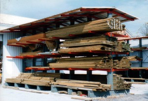 Lumber Storage Cantilever Covered Outdoor