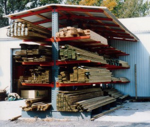 Lumber Storage For Cantilever Rack Roof System