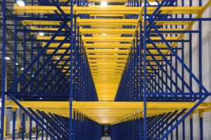 Drive-In Rack Side View with Structral Pallet Racking